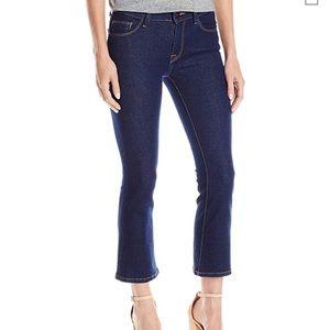 DL 1961 Lara dark wash cropped flare jeans size 28